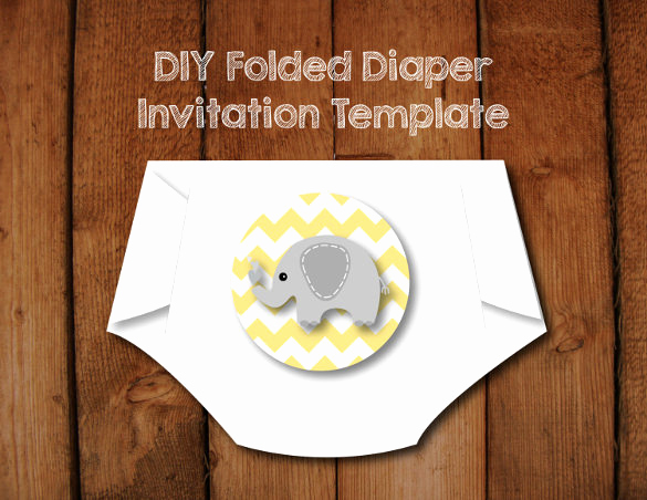 Diy Baby Shower Invitation Templates Awesome 10 Diaper Invitation Templates Free Sample Example