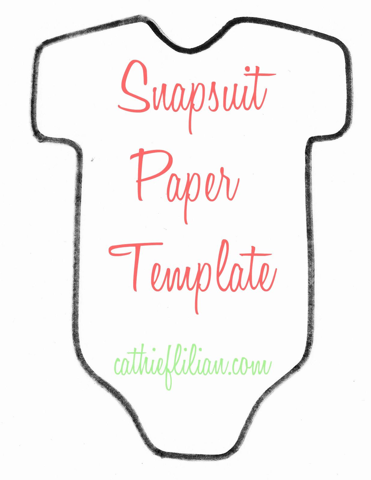 Diy Baby Shower Invitation Templates Beautiful Cathie Filian Snapsuit Decorating Baby Shower Handmade
