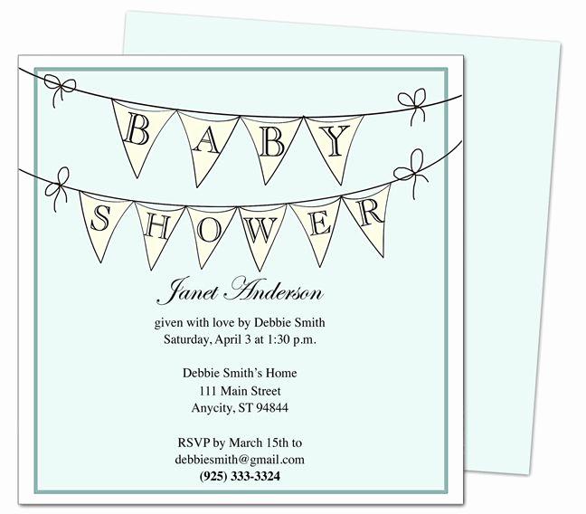 Diy Baby Shower Invitation Templates Inspirational Baby Shower Invitations Pennantboy Printable Diy Shower