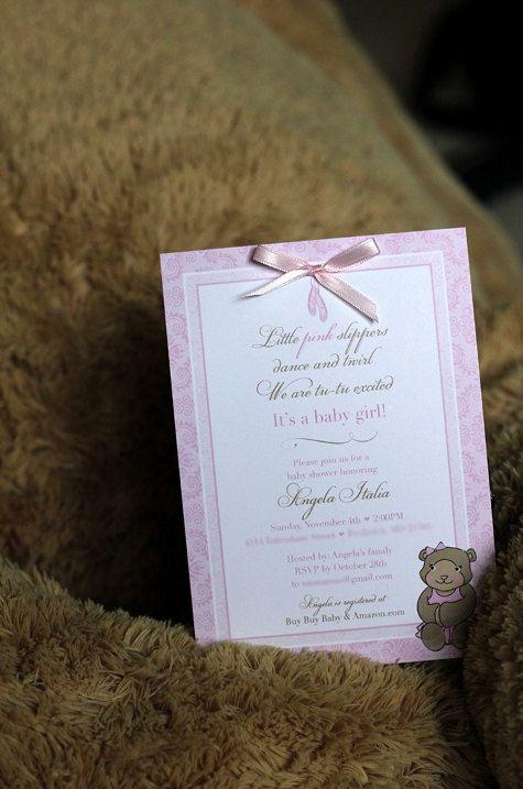 Diy Baby Shower Invitation Templates Inspirational Diy Baby Shower Invitation Teddy Bear Ballerina Template