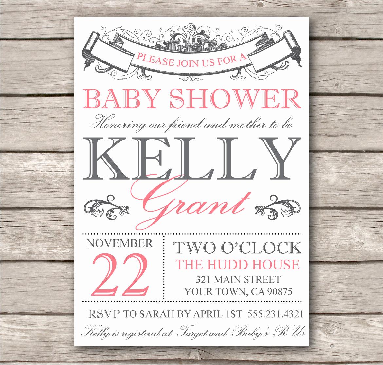 Diy Baby Shower Invitation Templates Unique Bridal Shower Invitation or Baby Shower Invitation by