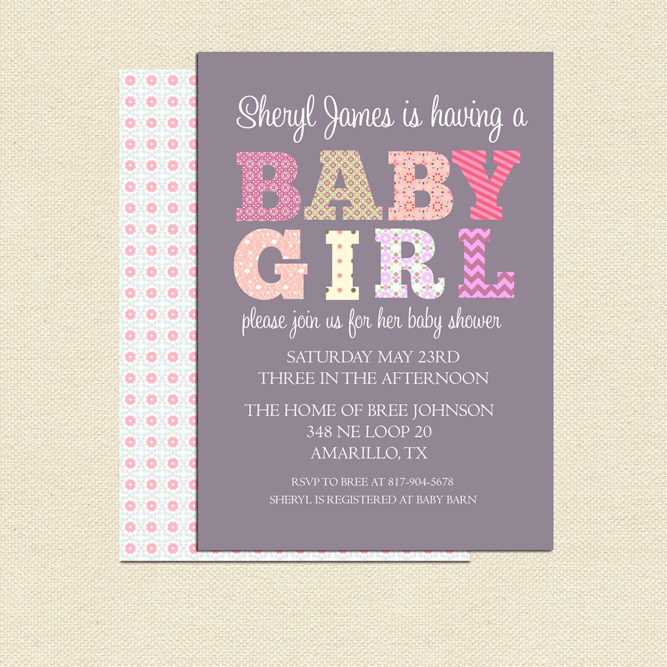 Diy Baby Shower Invitation Templates Unique Diy Printable Baby Shower Invitation for Girl No 2