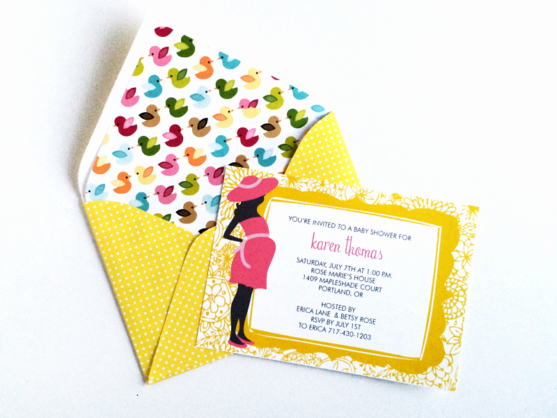 Diy Baby Shower Invitation Templates Unique Free Template for Easy Envelope Liners