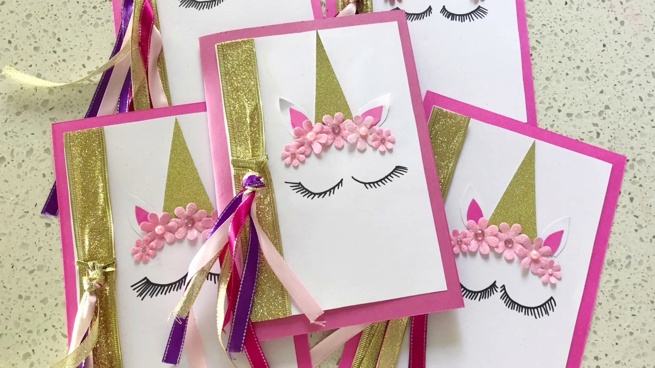 Diy Birthday Invitation Ideas Awesome Beautiful Handmade Unicorn Party Invitations