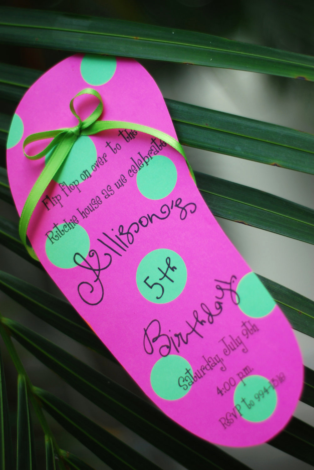 Diy Birthday Invitation Ideas Beautiful Diy Pool Party Luau Flip Flop Birthday Invitation