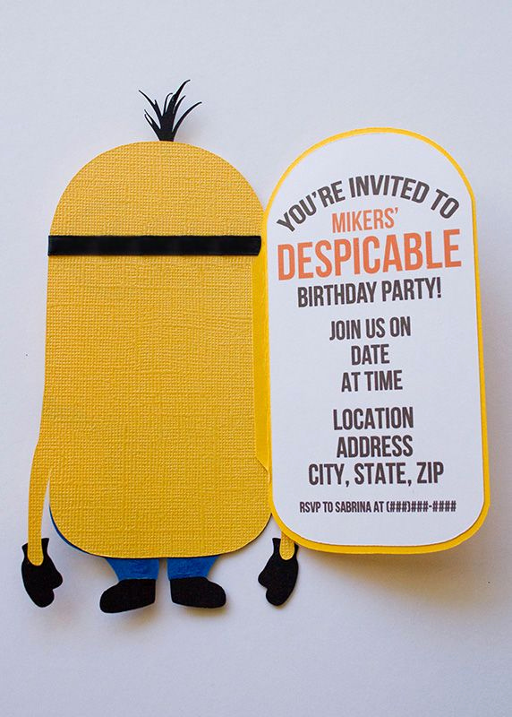 Diy Birthday Invitation Ideas Inspirational Minion Invitation On Pinterest
