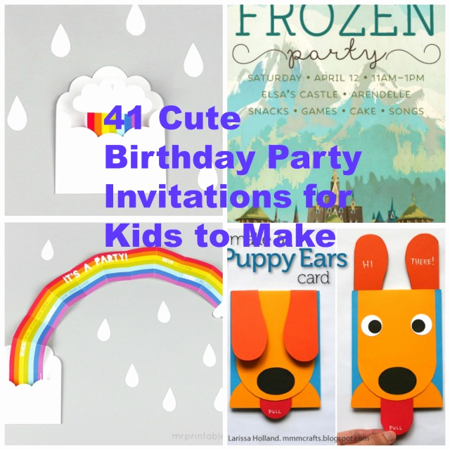 Diy Birthday Invitation Ideas Lovely 41 Printable Birthday Party Cards & Invitations for Kids