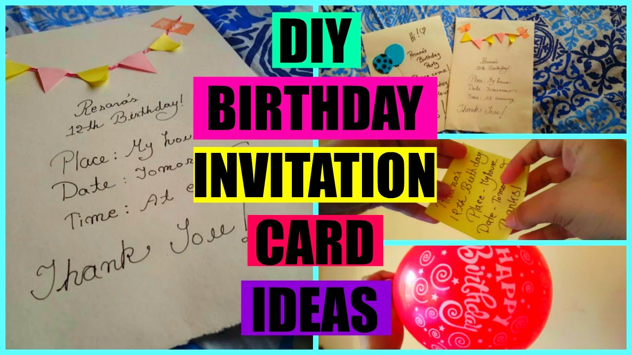 Diy Birthday Invitation Ideas Lovely Diy Birthday Invitation Card