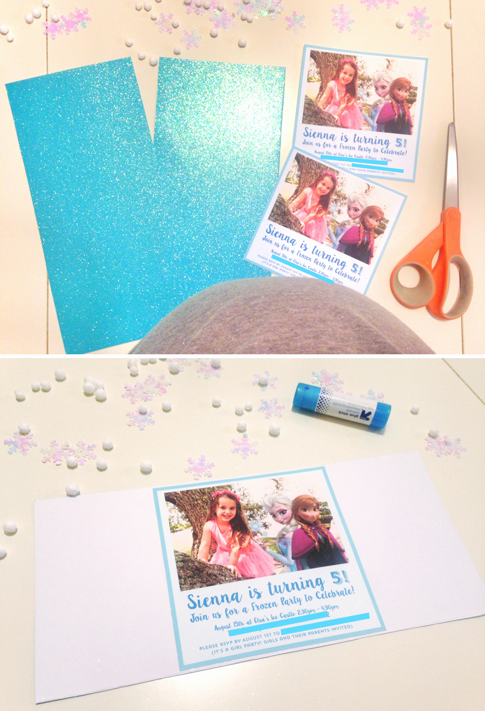 Diy Birthday Invitation Ideas Luxury Diy Frozen Party Invitation Tutorial Free Printable – at
