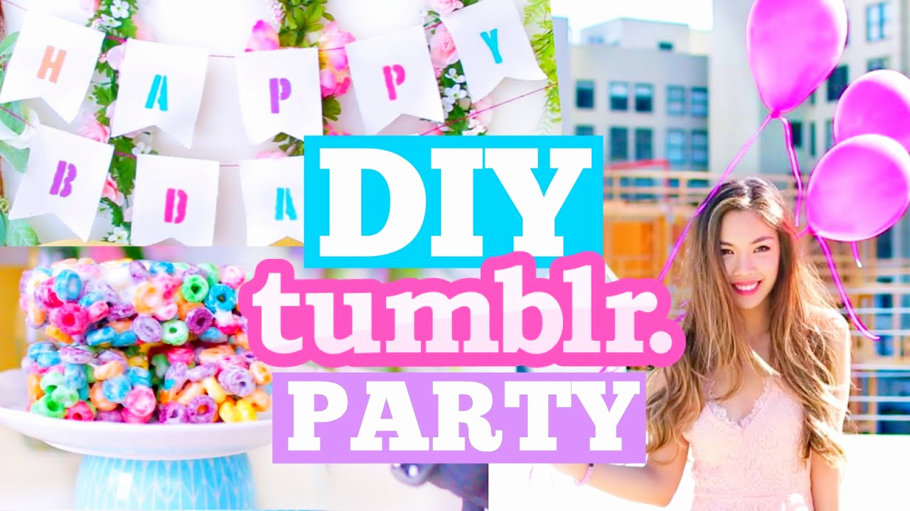 Diy Birthday Invitation Ideas Luxury Diy Tumblr Birthday Party Cute Decor Snacks & Outfit