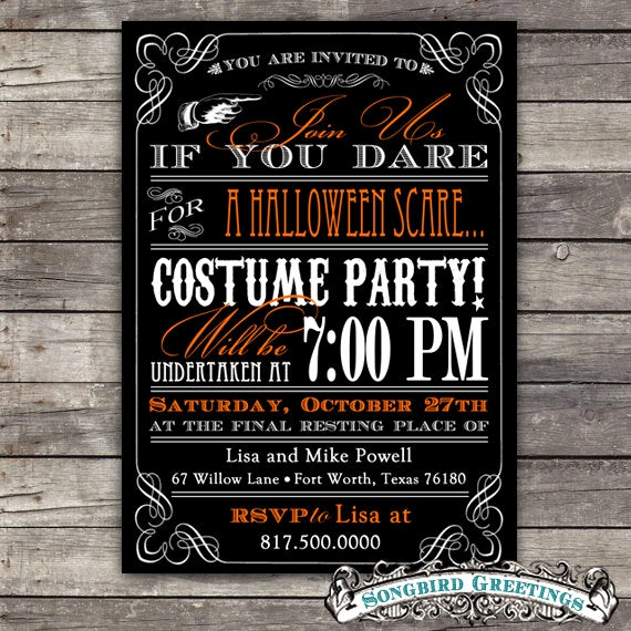 Diy Birthday Invitation Ideas New Items Similar to Diy Vintage Halloween Party Invitation