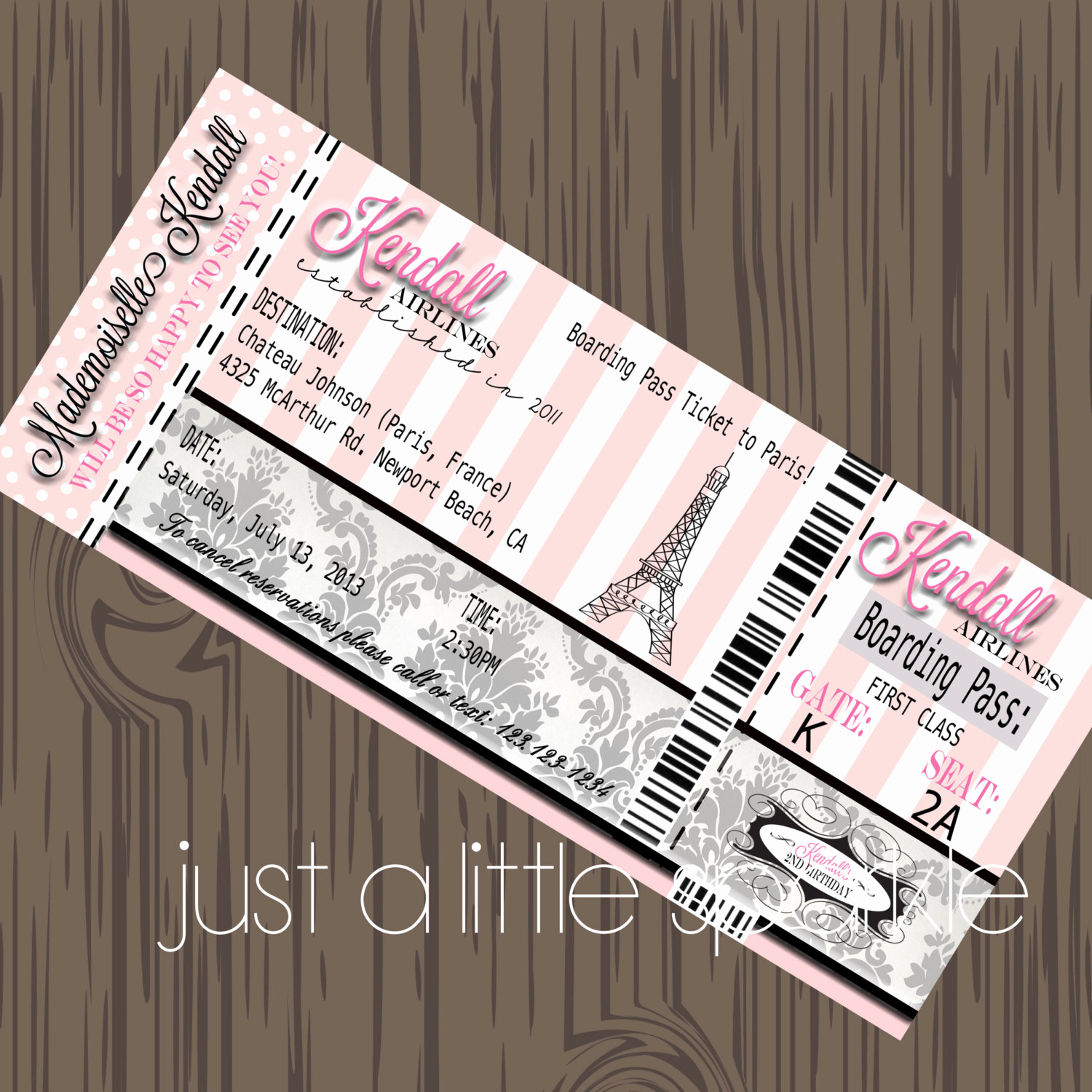 Diy Boarding Pass Invitation Awesome Paris Boarding Pass Invitation Diy Boarding Pass Invite