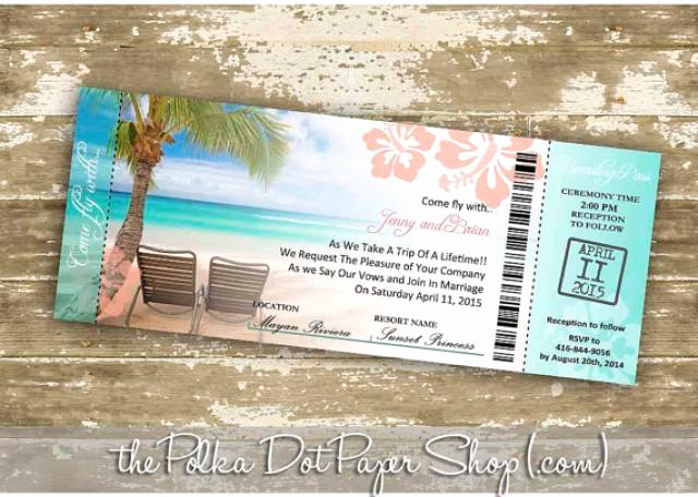 Diy Boarding Pass Invitation Best Of Destination Wedding Invitation Diy Print Your Own