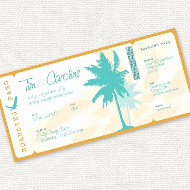 Diy Boarding Pass Invitation Elegant Beach Party Invitation Printable Diy Wedding Invitation