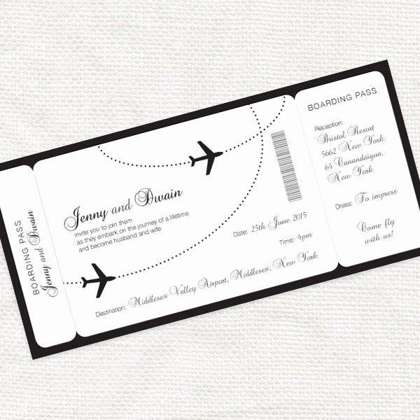Diy Boarding Pass Invitation Elegant E Fly with Me Boarding Pass Wedding Invitation Printable