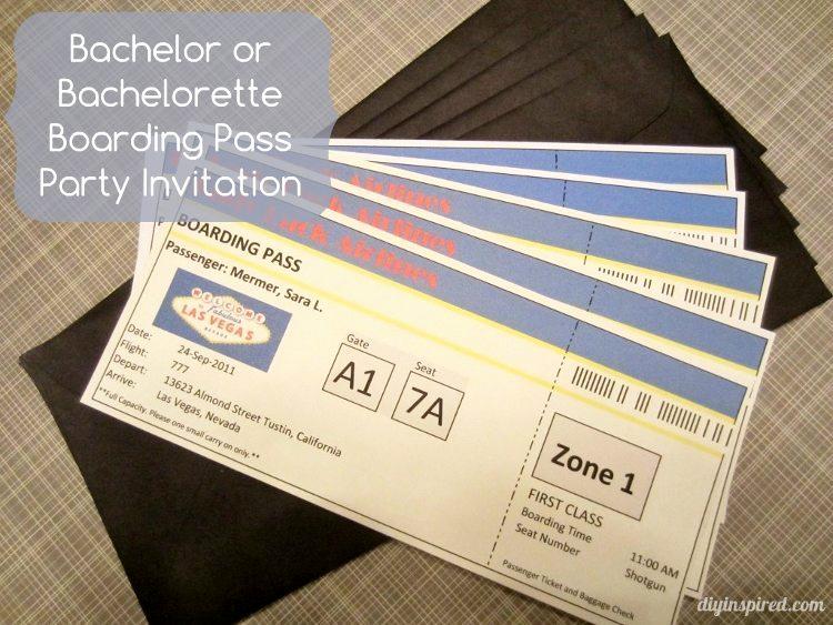 Diy Boarding Pass Invitation Fresh Boarding Pass Invitations Diy Inspired