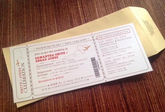 Diy Boarding Pass Invitation Inspirational Airplane Boarding Pass Invitation Ticket by Papercakedesigns
