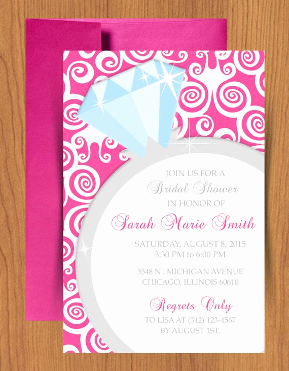 Diy Bridal Shower Invitation Templates Awesome Diy Ring Bridal Shower Invitation Editable Template