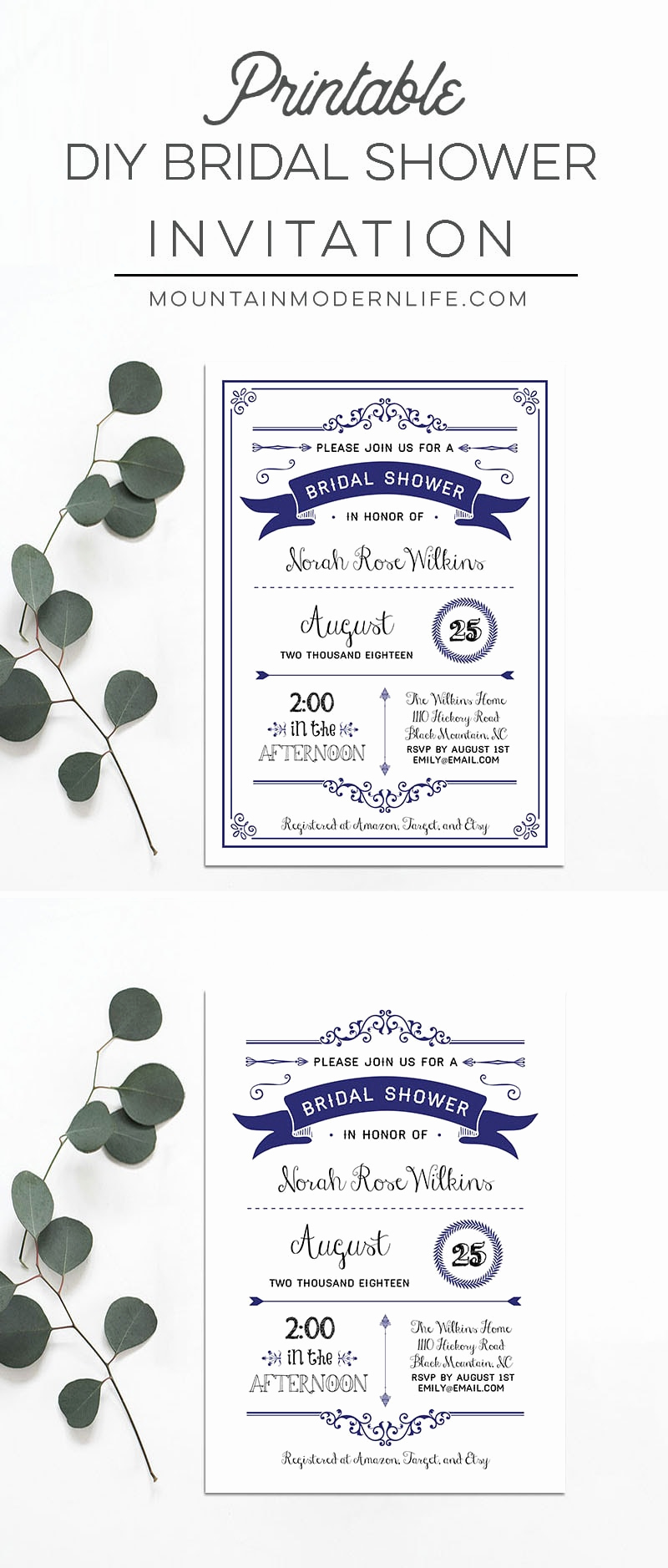 Diy Bridal Shower Invitation Templates Awesome Printable Diy Bridal Shower Invitation