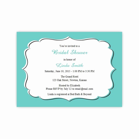 Diy Bridal Shower Invitation Templates Beautiful Teal Bridal Shower Invitations Diy Printable Template