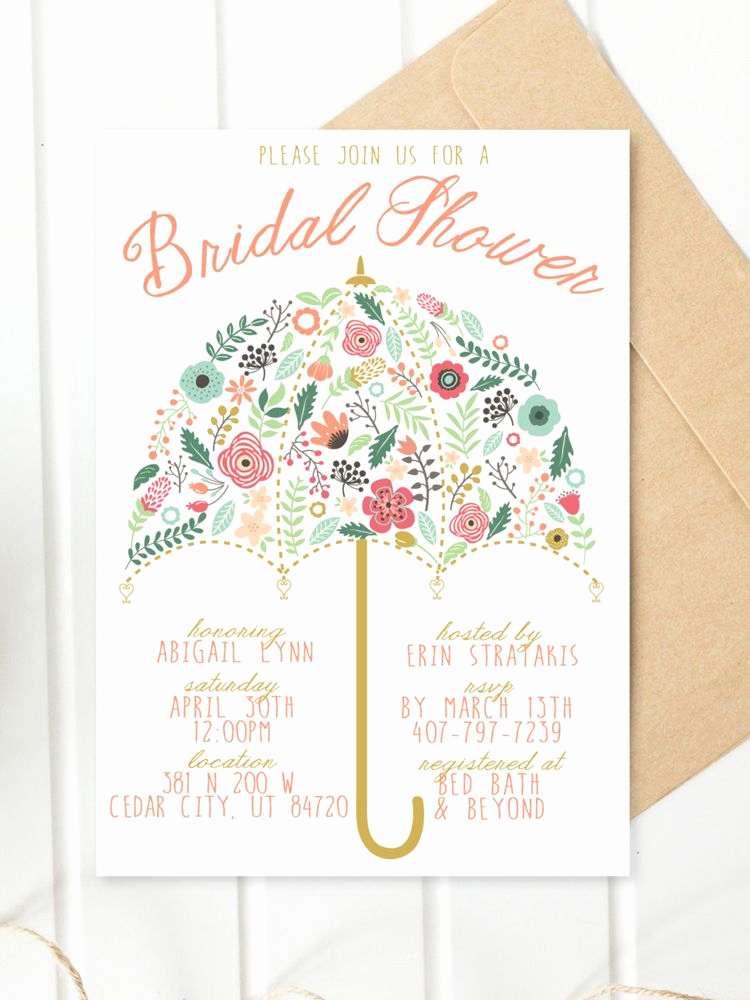 Diy Bridal Shower Invitation Templates Inspirational Printable Bridal Shower Invitations You Can Diy