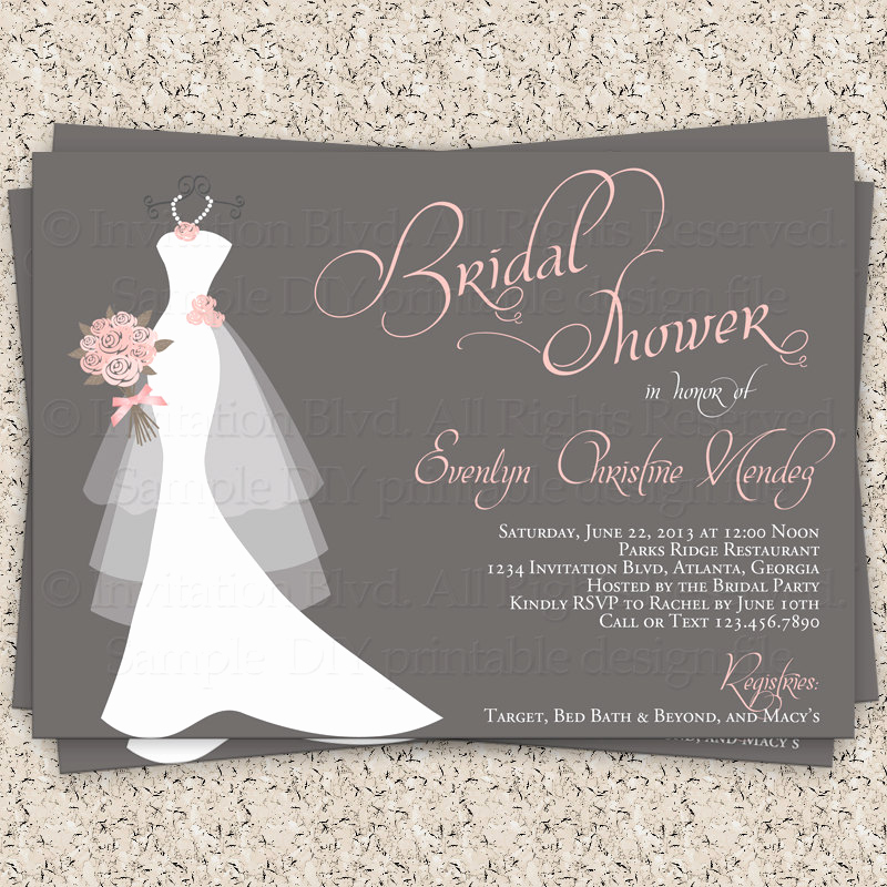 Diy Bridal Shower Invitation Templates Lovely Bridal Shower Invitation Wedding Shower by Invitationblvd