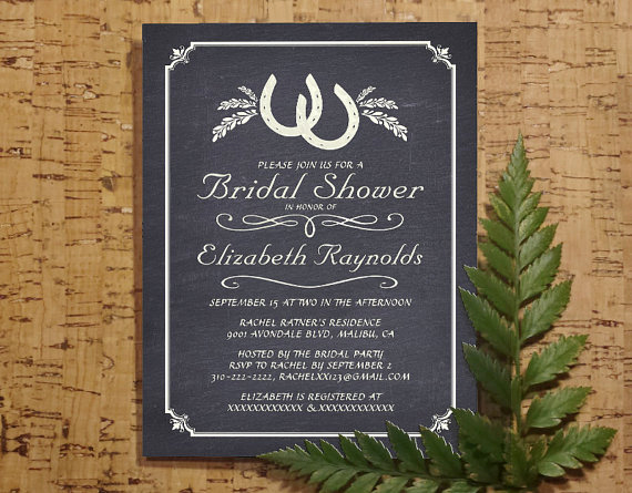 Diy Bridal Shower Invitation Templates Lovely Country Horseshoe Bridal Invitations Bridal Shower