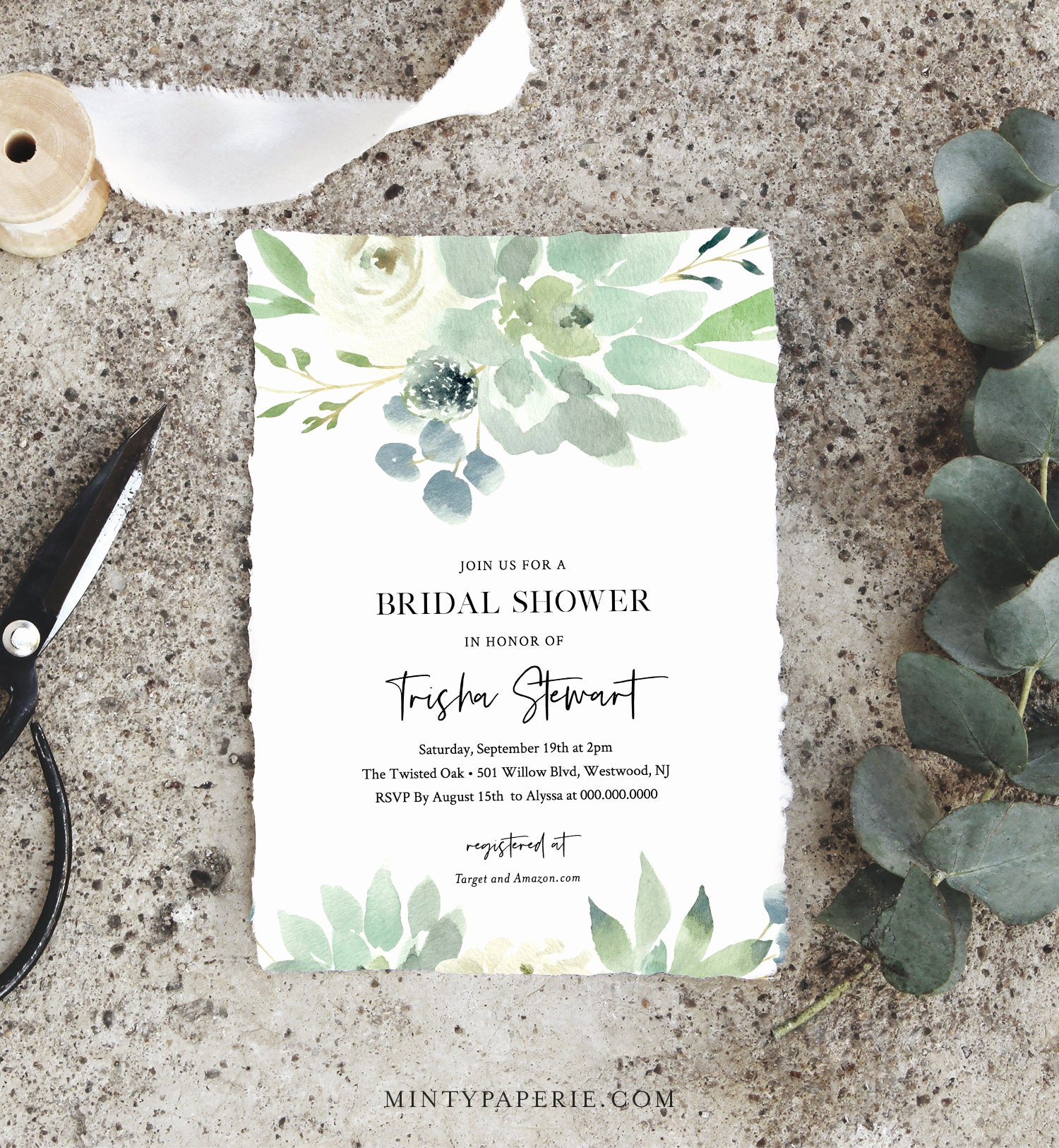 Diy Bridal Shower Invitation Templates Luxury Succulent Bridal Shower Invitation Template Delicate