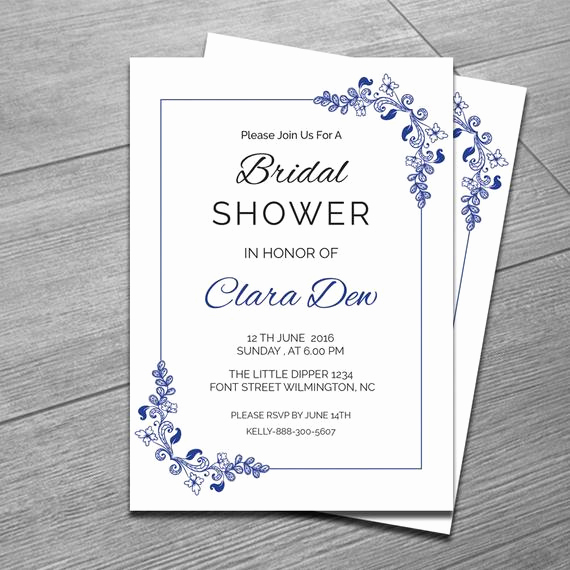 Diy Bridal Shower Invitation Templates Unique Items Similar to Printable Bridal Shower Invitation