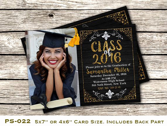 Diy Graduation Invitation Ideas Fresh Printable Graduation Invitation Customizable High