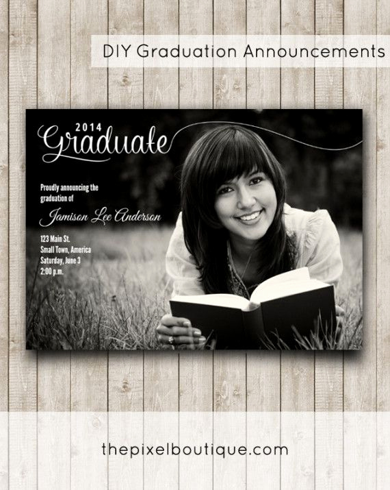 Diy Graduation Invitation Ideas New Diy Graduation Announcements Make This Design for Free
