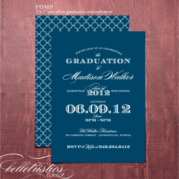Diy Graduation Invitation Ideas Unique Belletristics Stationery Design and Inspiration for the