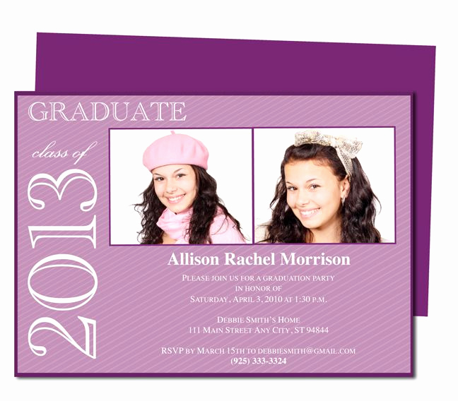 Diy Graduation Invitation Templates Free Inspirational 46 Best Printable Diy Graduation Announcements Templates