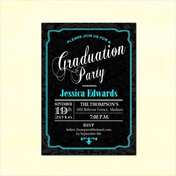 Diy Graduation Invitation Templates Free Luxury 12 Graduation Party Invitation Designs & Templates Psd