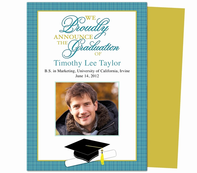 Diy Graduation Invitation Templates Free Luxury Best 46 Printable Diy Graduation Announcements Templates