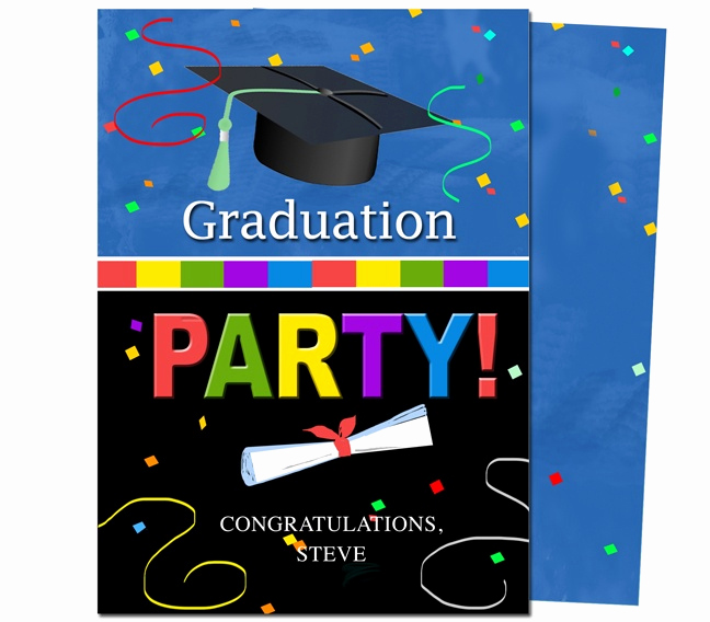 Diy Graduation Invitation Templates Free Luxury Graduation Party Invitations Templates Confetti