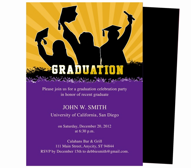 Diy Graduation Invitation Templates Free New Best 46 Printable Diy Graduation Announcements Templates