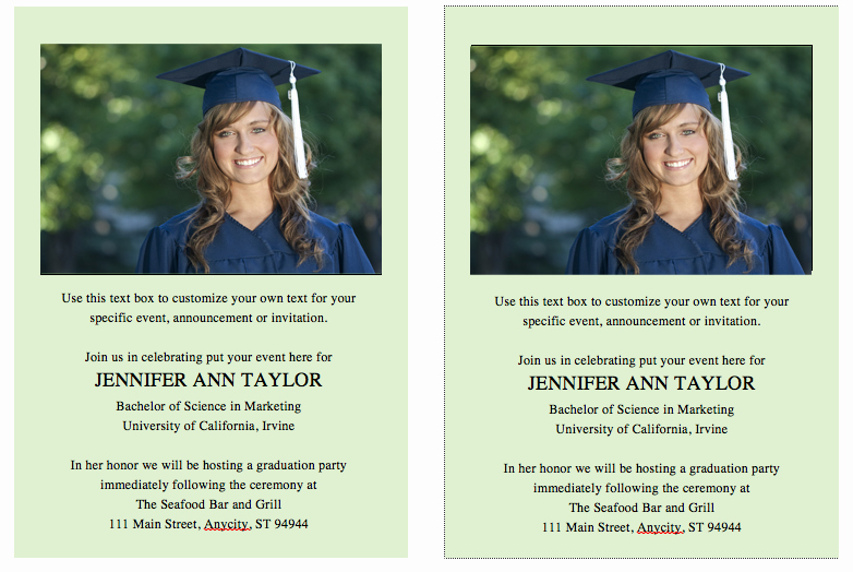 Diy Graduation Invitation Templates Free New Free Graduation Invitation Announcement Template solid