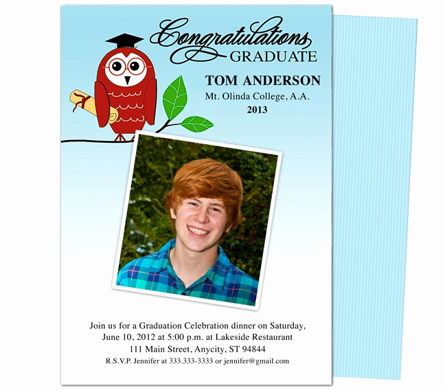 Diy Graduation Invitation Templates Free New Graduation Announcements Templates Smart Owl Printable