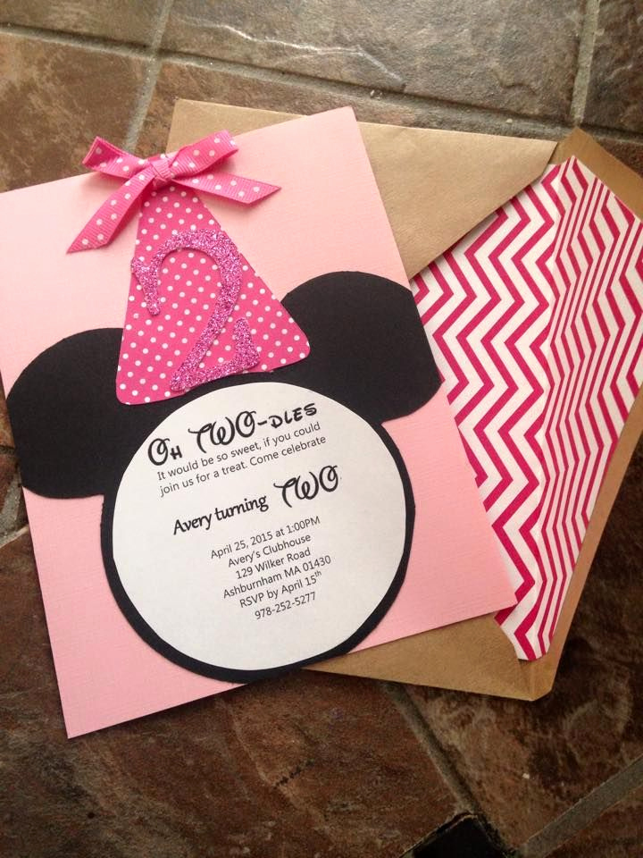 Diy Minnie Mouse Invitation Beautiful Diy Minnie Mouse Birthday Invites Oh Twodles