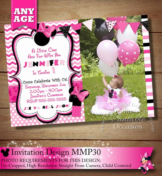 Diy Minnie Mouse Invitation Elegant Huge Selection Pink Chevron Minnie Mouse Birthday