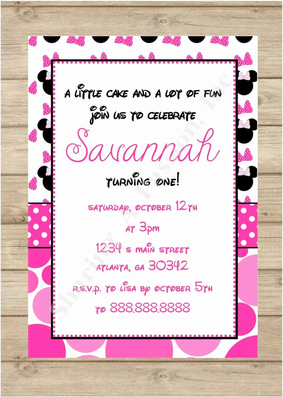 Diy Minnie Mouse Invitation Elegant Pink Minnie Mouse Invitation Minnie Mouse by