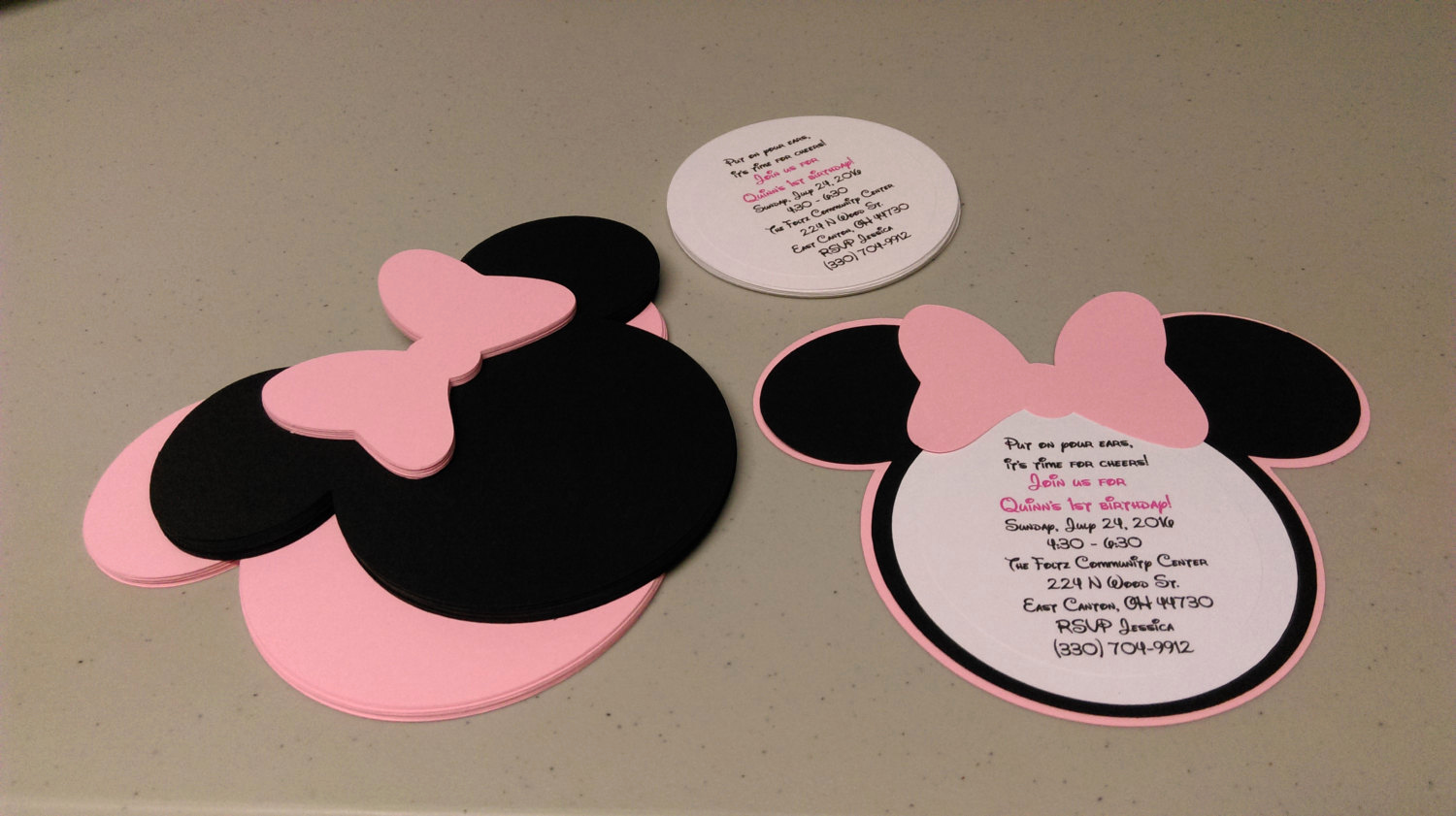 Diy Minnie Mouse Invitation Fresh Diy Minnie Mouse Invitations In Light Pink Birthday