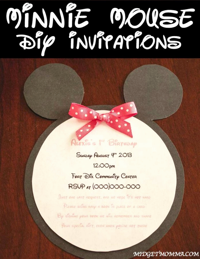 Diy Minnie Mouse Invitation Fresh Do It Yourself Minnie Mouse Invitations