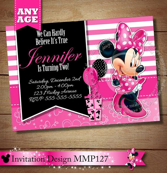 Diy Minnie Mouse Invitation Inspirational 1000 Images About Pink Minnie Mouse toodles Invitations
