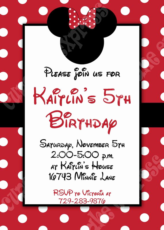 Diy Minnie Mouse Invitation Inspirational Minnie Mouse Invitation 3 Red Printable Birthday Party