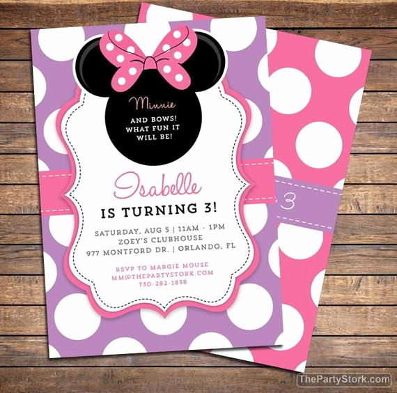 Diy Minnie Mouse Invitation Lovely Birthday Invitations for Girls Minnie Bowtique Invitation