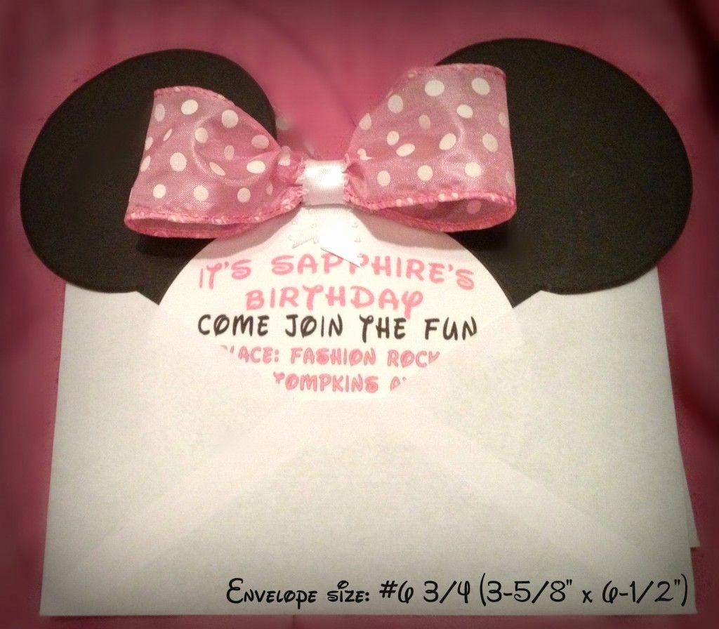 Diy Minnie Mouse Invitation Lovely Diy Minnie Mouse Invitation with Real Bow Free Minnie