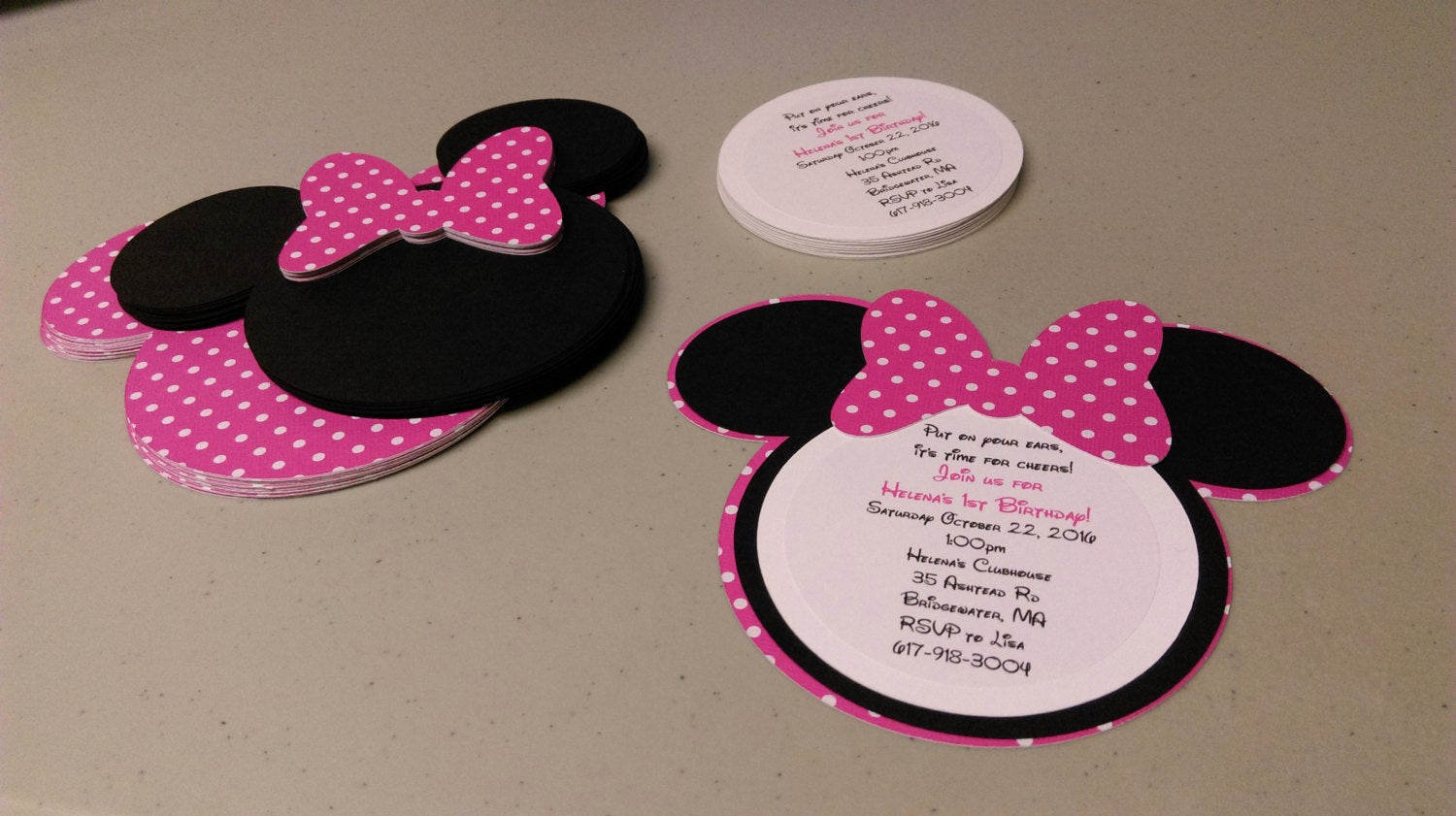 Diy Minnie Mouse Invitation Lovely Diy Minnie Mouse Invitations In Bold Pink and White Polka