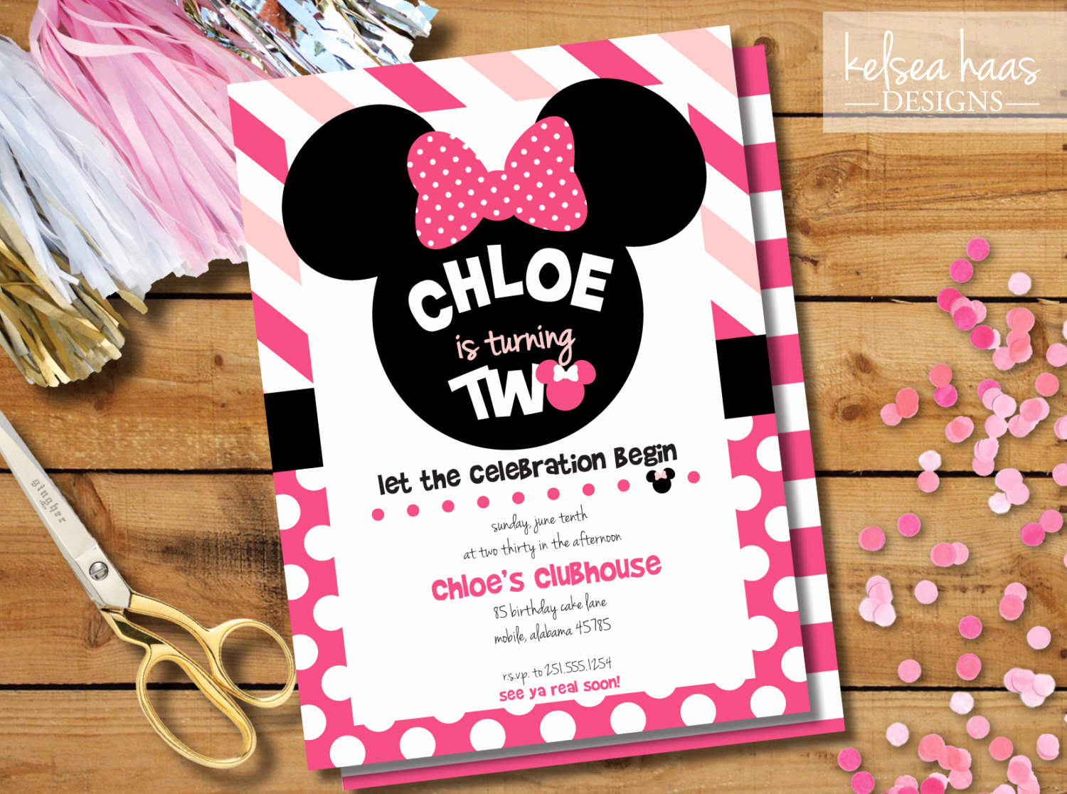 Diy Minnie Mouse Invitation Lovely Minnie Mouse Birthday Invitation Digital Printable Diy Girl